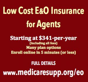 Low Cost E&O for health agents