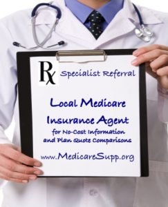 Website lists local Medicare insurance agents